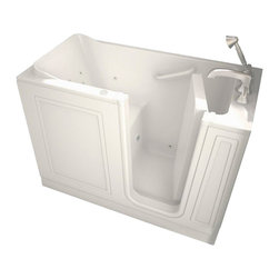 American Standard - American Standard 2651.110.WRL Walk-In Whirlpool Tub, Linen - American Standard 2651.110.WRL Walk-In Whirlpool Tub, Linen. This premium combination bath features a premium acrylic construction with fiberglass reinforcement, a water-tight door system with a patented aluminum frame, a built-in chair height seat and color matched grab bar, a textured tub floor for a slip-free surface, a color matched right-sided waste/overflow, and a free-standing metal support frame for reliable durability.