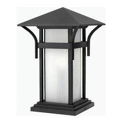 Hinkley Lighting - Hinkley Lighting HK-2576SK-GU24 Harbor Outdoor - Harbor has an updated nautical feel, with a style inspired by the clean, strong lines of a welcoming lighthouse. The cast aluminum and brass construction is accented by bold stripes against the seedy glass.