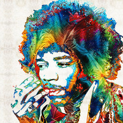 Miscellaneous Art - Jimi Hendrix Tribute By Sharon Cummings