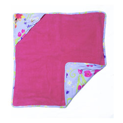 Magic Garden Hooded Towel - Baby girls will love this adorable hooded towel made with designer fabric back full of with flower-fairies and butterflies. This item is completely made of cotton poplin.