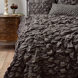 Catalina Quilt, Charcoal - If modern bedding is not your thing, get this uber romantic set in gray for your bedroom.