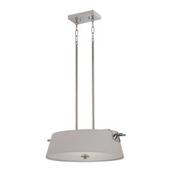 Nuvo Lighting - Nuvo Lighting 62/193 Contemporary Polished Nickel PendantClaire Collection - Claire - LED Pendant
