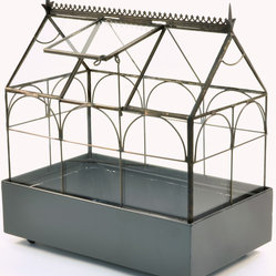 H Potter - H Potter Plant Terrarium, Wardian Case - How does your garden grow? Why, in the confines of this glass terrarium. Taking its cue from Edwardian design, this case allows you to grow your very own garden inside — perfect for small spaces or your office.