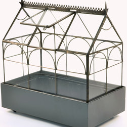 H Potter - H Potter Plant Terrarium Wardian Case - How does your garden grow? Why, in the confines of this glass terrarium. Taking its cue from Edwardian design, this case allows you to grow your very own garden inside — perfect for small spaces or your office.