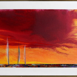 Ted Lownik, Sailboats, Oil Painting - Artist:  Ted Lownik, American