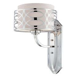 Nuvo Lighting - Nuvo Lighting 60-4621 Harlow 1-Light Vanity Fixture with Slate Gray Fabric Shade - Nuvo Lighting 60-4621 Harlow 1-Light Vanity Fixture with Slate Gray Fabric Shade