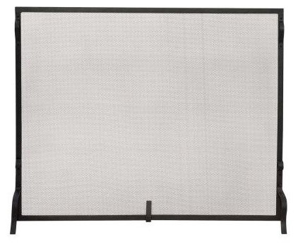 Contemporary Fireplace Screens by Home Depot
