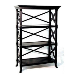 Wayborn - Charter Book Stand w 3 Shelves (3 Shelves) - Choose No. of Shelves: 3 ShelvesMade from Birchwood. Smooth finish. 32 in. W x 14 in. D x 46.5 in. H (35 lbs.)
