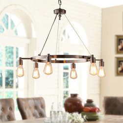 None - Rae 6-light Chandelier - Illuminate your room in style with this attractive light. This lighting fixture features an interesting look in a great finish.