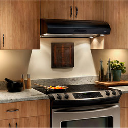 Broan - Broan 36-inch Black or Biscuit Under Cabinet Range Hood - The 30-inch under-cabinet range hood has a contemporary style and sleek appearance that will complement any kitchen design. Easy to clean, brilliant lighting and quiet operation result in the perfect marriage of functionality.