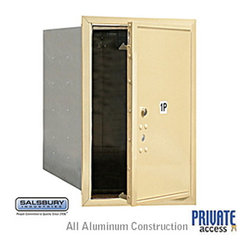 Salsbury Industries - 4C Horizontal Mailbox - 6 Door High Unit - Single Column - Stand-Alone Parcel Lo - 4C Horizontal Mailbox (Includes Master Commercial Lock) - 6 Door High Unit (23 1/2 Inches) - Single Column - Stand-Alone Parcel Locker - 1 PL6 - Sandstone - Front Loading - Private Access