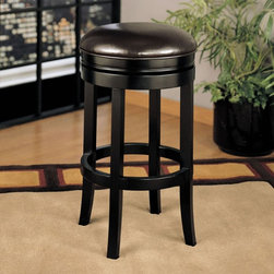Armen Living - Armen Living Patrick 26 in. Swivel Counter Stool - Espresso Dark Brown - LCMBS40 - Shop for Stools from Hayneedle.com! Add style to any room with the Armen Living 26-Inch Patrick Swivel Counter Stool - Espresso featuring a large round leather seat in a rich brown color. With the espresso wood accent it matches well with many of today's game rooms and kitchens. Available in bar and counter heights with a full 360-degree swivel seat and footrail for added comfort. Dimensions: 17W x 17D x 26H inches. Some assembly required. Please note: This item is not intended for commercial use. Warranty applies to residential use only. About Armen LivingImagine furniture without limits - youthful robust refined exuding self-expression at every angle. These are the tenets Armen Living's designers abide by when creating their modern furniture collections. Building on more than 30 years of industry experience Armen Living combines functional versatility and expert craftsmanship into their dramatic furniture styles all offered at price points fit for discriminating budgets. Product categories include bar stools club chairs dining tables ottomans sofas and more. Armen Living is based in Sun Valley Calif.