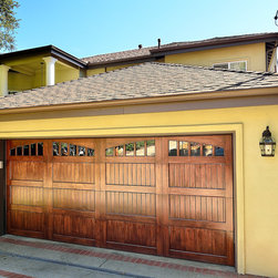 Spanish Design Wood garage Door (Model Name: Americana) - Wood Garage Door