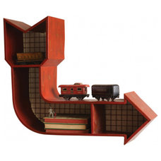 Eclectic Display And Wall Shelves  by High Camp Home