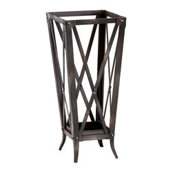 Cyan Design - Cyan Design Hacienda Umbrella Stand - Cyan Design Hacienda Umbrella StandRustic and industrial, the Hacienda Umbrella Stand from Cyan Design is a functionally chic piece for any space. It's crafted from iron in a raw-steel finish and features open sides with cross-bracing accents. Place it in your entryway so guests have a handy spot to place umbrellas and so you can show off your rugged, Pacific Northwest style.Made in China