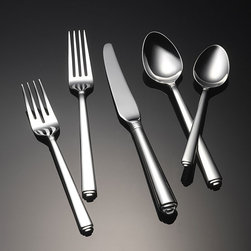 Yamazaki - Yamazaki Portico 5-piece Flatware Place Setting - Complete your dinner service with these five-piece flatware place settings. The simple, contemporary design of the dining utensils makes each set an ideal match for your existing dinnerware, and the stainless-steel construction ensures their longevity.