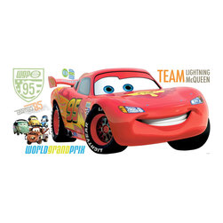 York Wallcoverings - Disney Cars 2 Lightning McQueen Decal Wall Accent - FEATURES: