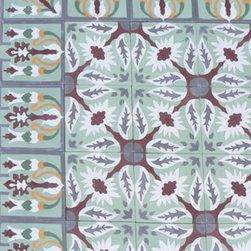 Cuban Heritage Design - This cement tile has a really fun, kaleidoscopy kind of pattern. Very cool. Great for a funky kitchen or bathroom floor.