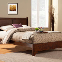 Alpine Furniture - West Haven Full Low Footboard Sleigh Bed - West Haven Full Low Footboard Sleigh Bed