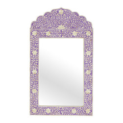 Jaipur Mirror, Lavender - The scallops on this mirror add a special touch. It would be so welcoming in an entrance hall.