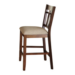 """Steve Silver Furniture - Steve Silver Bolton Counter Chair with Beige Cotton Seat (Set of 2) - The Bolton Dining Collection offers a fresh contemporary look while providing maximum storage options. The Bolton counter chair features a window pane design on the back and a comfortable linen look upholstered seat. The chair measures 19""""W x 22""""D x 41""""H making it the perfect match for the Bolton counter height Dining table."""