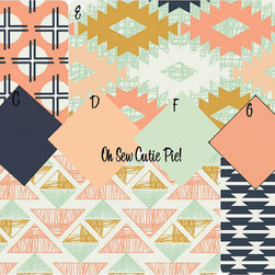 Aztec Arizona Desert Dream Baby Bedding by Oh Sew Cutie Pie - I love the colors and patterns combined in this custom-order bedding set. It would be just right for a little girl's room.