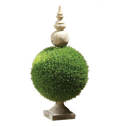 Moss Sphere Topiary II - This moss sphere makes a spring statement.