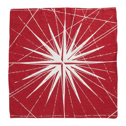 Montauk Compass Rose Napkin, Set of 2, Red/White