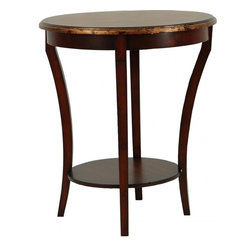 Safavieh - Harrison Beidermeir Round Side Table - The style is inimitable. The slender, shapely legs of the Harrison Biedermeier Table are instantly recognized by aesthetes everywhere. Crafted with 100% birch wood, it's a classic piece at home in soft modern and traditional surrounds.