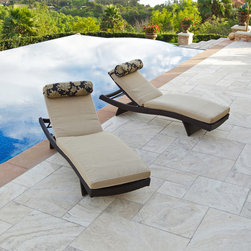 Delano™ Wave Chaise Lounger with Mattress - Delano™ Wave Chaise Lounger with Mattress and Bolster Pillow Set by RST Outdoor has five way adjustable backrest and elegant four post folding feet allow you to position the lounger in the most comfortable seating position. Fold the legs down and stack the loungers up to eight units high for easy storage.