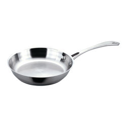 """Berghoff - Berghoff Copper Clad Stainless Steel Fry Pan 12'' - 12"""" Fry pan is made with 18/10 Surgical Stainless steel on outer surface. Patented sandwich base with a copper core for fast and even heat distribution. Works on all cook tops, including induction."""