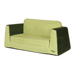 "P'kolino - Little Sofa / Sleeper - Green - The Little Reader Sofa, is the perfect companion to the Little Reader chair, with its wide base and strong angular lines makes this sofa attactive and supremely sturdy. Comfy foam, supple fabric, book pockets and easy to fold out sleeper, creates the perfect combination for a little quiet-time. This durable sofa is made with the highest quality materials. Constructed with premium high density foam and upholstered in cozy, stain resistent fabrics.; Multi-use: sofa and Sleeper; Stylish and Functional size and looks; Pockets for books and small toys; Playfully designed for children age 2 and up; Quality construction; Weight: 10 lbs.; 90 Days Warranty; Dimensions: 12""H x 30""W x 17""D"