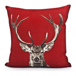 PRODUCTS | Decorative Pillows & Throws - Balsam Hill French Staghead Pillow