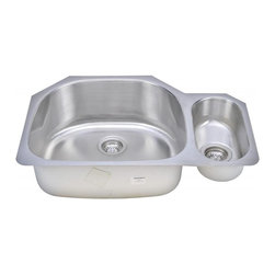 """Wells Sinkware - Wells Sinkware 80/20 Double Bowl Sink Pack - 18 gauge undermount, Scratch resistant matte finish, Mirror highlighted rim, Heavy duty sound absorbent coating & padding, Intelli-Pressed seamless one-piece construction, Drain openings: 3 1/2"""", Drain placement: offset towards back, Mounting hardware included, Flush or 1/4"""" reveal 2-in-1 cutout template, Limited lifetime warranty, Complies with ASMEA 112.19.3-2008/CSA B45.4-08, Package includes: (1) Sink bottom protection grid: GWW2118 (2) Basket strainers: S8000"""