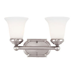Savoy House Lighting - Savoy House 8P-60500-2-69 Main Street 2 Light Bathroom Vanity Light, Pewter - This transitional collection has a gleaming Pewter finish perfectly complemented by White Opal Etched Glass.
