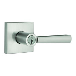 Baldwin Hardware - Prestige Spyglass Keyed Entry Lever Featuring Smartkey in Satin Nickel - Baldwin is taking door hardware to the next level. Our new Spyglass family offers affordable luxury with effortless style. The contemporary inspired lever and square raised offer transitional style with a clean aesthetic and modern lines.