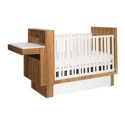 Nurseryworks Studio Crib Set\ - This crib and changing table with a hideaway cabinet allows ample space for caring for your infant, with a modern minimalism any mother will love. With space to store all of your diapers and accessories, this discreet space can hide toys when the crib is converted to a toddler bed.