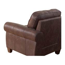 Coaster - Coaster Bentley Rustic Styled Microfiber Club Chair in Brown - Coaster - Club Chairs - 504203 - Exuding a rustic personality, the Bentley sofa collection will fit well with any traditional styled living room. Featuring a durable pocket coil seating wrapped in a plush coated microfiber in brown.