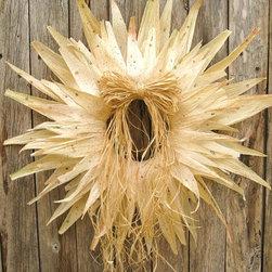 Fall Wreath Autumn Wreath Cornhusk Starburst by AWorkofHeartSA -