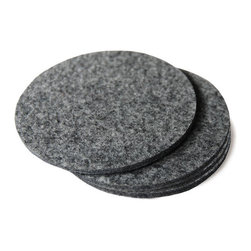 The Felt Store - Felt Coasters 4 Inch Diameter, Natural Gray (4 Pcs) - The Felt Coasters are a stylish statement for your coffee table, kitchen or office. Pack consists of four coasters. Each coaster measures approximately 4 inch in diameter and 0.13 inch (3mm) thick.