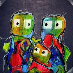 SCANDINAVIAN ART FACTORY - Large Artwork - One of a kind art- original