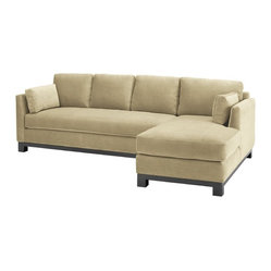 Avalon 2-piece Sectional Sofa, Buckwheat, Chaise on Left