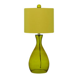 AF Lighting - AF Lighting 8520 Yellow Single Light Hand Blown Glass Table Lamp from the Angelo - AF Lighting 8520 Single Light Table Lamp from the Angelo Home CollectionThis fixture is designed by Angelo Surmelis from angelo : Home. He is a world class designer who is known for his unique hand crafted work, and has been on many television shows for HGTV and TLC. AF Lighting and Angelo have partnered to create an entire collection of fixtures that are designed by Angelo. The collection of stylish and affordable fixtures is committed to quality, value and ease. From the hand crafted details to the no fuss assembly, the Angelo Home collection will add style to any room in the home.Features: