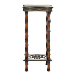 Safavieh - Blanch Side Table - Luxury often speaks in a whisper. And the Blanch Side Table's lush exotic charm lies in its quiet detail. Delicate decorative elements crown its base, apron top and also adorn warm bamboo-style birch wood legs-all honorable elements in any traditional or classic interior.