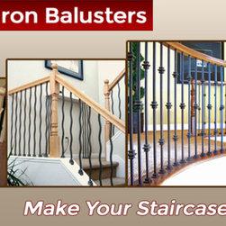 Iron Stair Railing Balusters - Variety of iron stair railing balusters available.