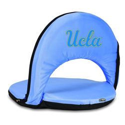 Picnic Time - UCLA Oniva Seat Recreational Reclining Seat Sky Blue - When you need a recreational reclining seat that's lightweight and portable, the Oniva Seat is for you. It has an adjustable shoulder strap and six adjustable positions for reclining. The seat cover is made of polyester, the frame is steel, and the seat is cushioned with high-density PU foam, which provides hours of comfortable sitting. The bottom of the seat is black so as not to soil easily. The Oniva Seat is great for the beach, the park, gaming and boating.; College Name: UCLA; Mascot: Bruins; Decoration: Digital Print
