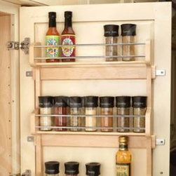 Door Mount Spice Rack - Keep the spices and oils corralled so that you have free space on your shelves for bigger things. A little order goes a long way.
