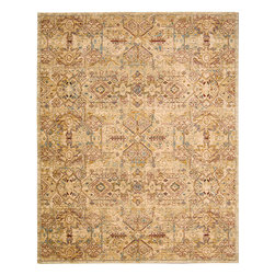 """Nourison - Nourison Rhapsody RH008 (Light Gold) 5'6"""" x 8' Rug - The Rhapsody collection is a modern mix of European and Persian textile traditions in lively, sophisticated patterns and colors."""