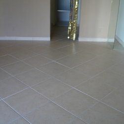 Ceramic Tile Installation in Aventura, FL - We have named this project as Lily. It has been done for the Condo in Aventura, FL, 15 minutes from our store in Miami.  The Ceramic Style tiles have been installed by our flooring experts. Hope you will like it