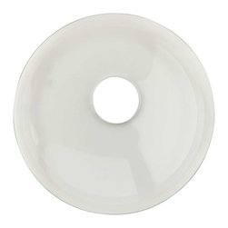 Renovators Supply - Faucet Parts Clear Glass Waterfall Disk - JEWELRY for your waterfall faucet!  Mix & Match interchangeable  glass & ceramic faucet disks & give your waterfall faucet a whole NEW LOOK! Not sure which pattern disk you prefer? Just buy additional disks and change them whenever you wish. 100@_s;s of COLORS & STYLES  to choose from! Coordinate your faucet with our selection of  Glass Vessel Sinks, Wall-mounts & Consoles!! Or coordinate your modern faucet with  Vitreous China recessed or above-counter sinks.